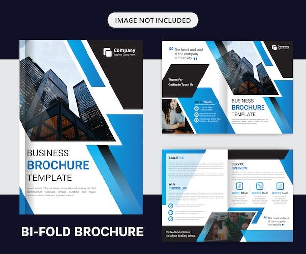 Шаблон оформления корпоративного двойного брошюры