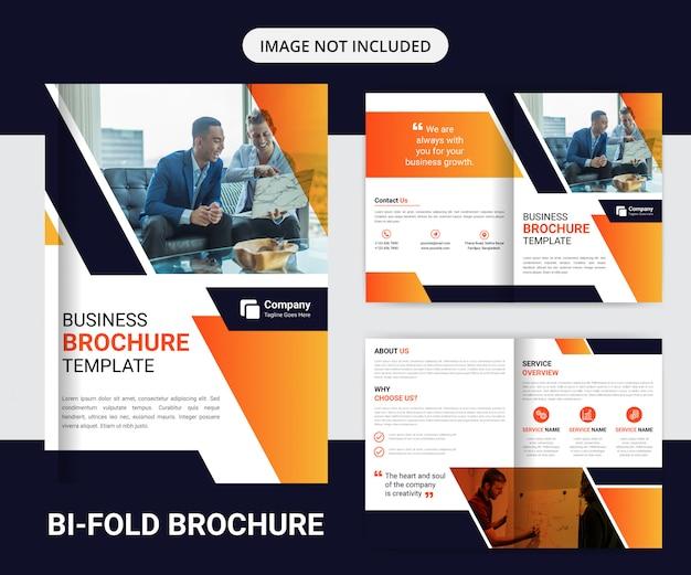 Шаблон оформления корпоративного двойного брошюры Premium векторы