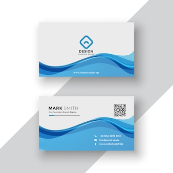 Corporate blue business card template