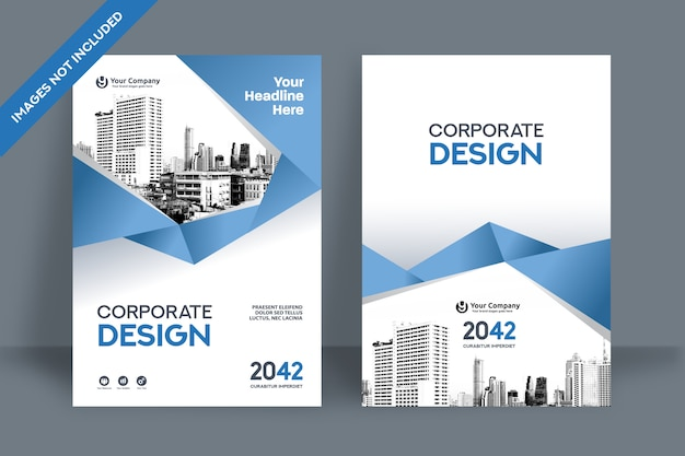 Corporate book cover design template in a4.