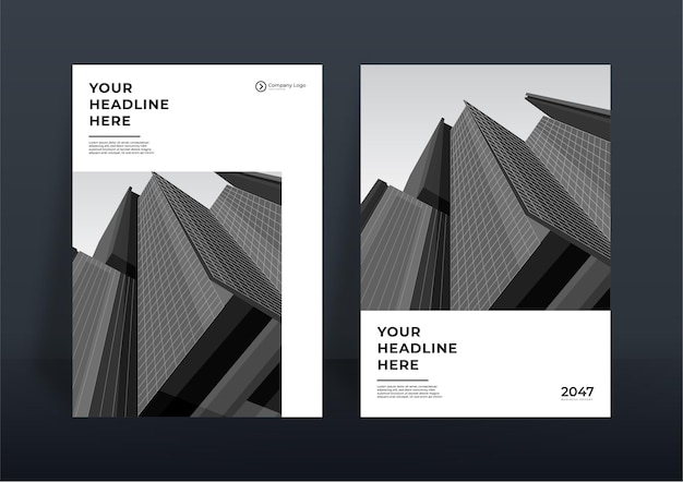 Corporate book cover design template or flier template background for business design. modern company profile template in a4 size