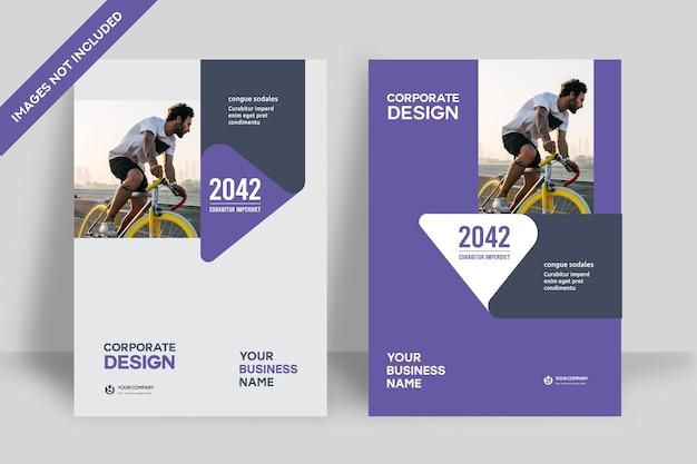 Корпоративный шаблон оформления обложки книги в формате а4. может быть адаптирован для брошюры, годового отчета, журнала, плаката, бизнес-презентации, портфолио, флаера, баннера, веб-сайта.