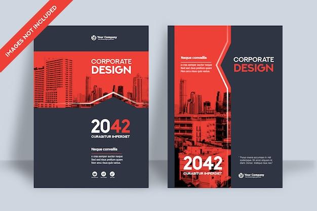 A4의 회사 책 표지 디자인 템플릿.