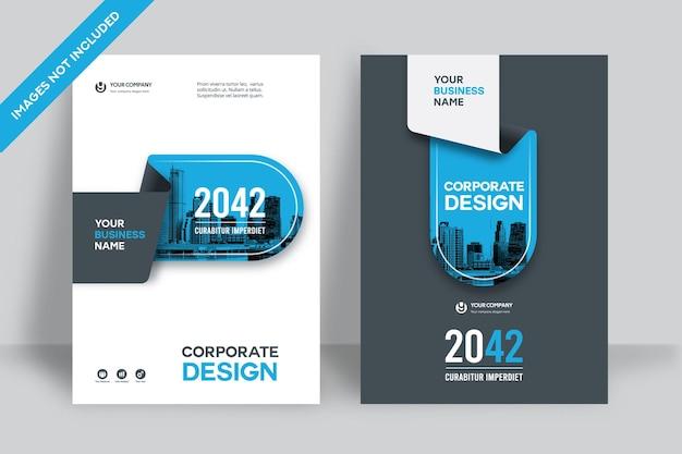 A4의 기업 책 표지 디자인 템플릿.