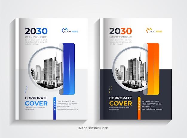 Corporate book cover design template set