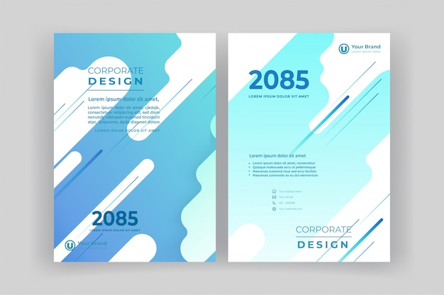 Corporate book cover design template.