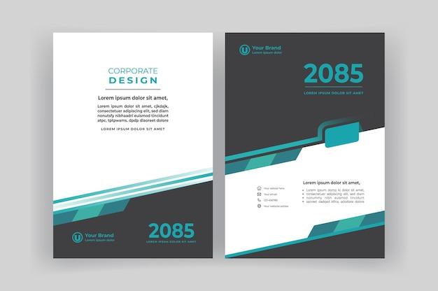 Шаблон оформления обложки корпоративной книги.