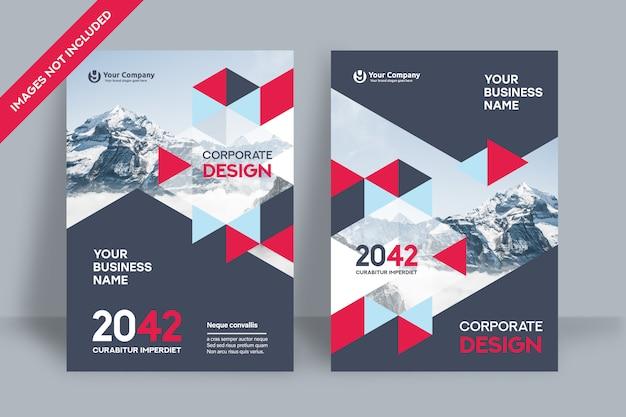 Corporate book cover design template.