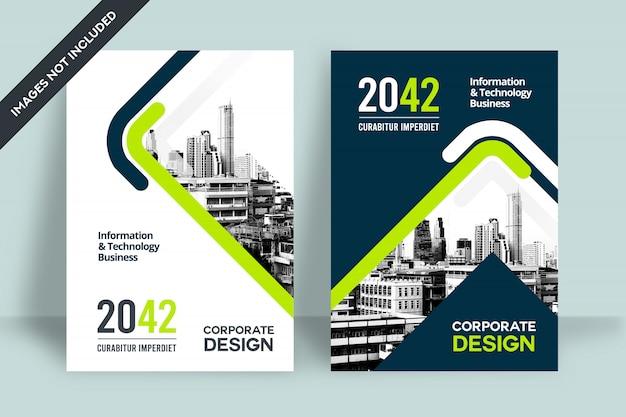 企業の本の表紙のデザインテンプレート