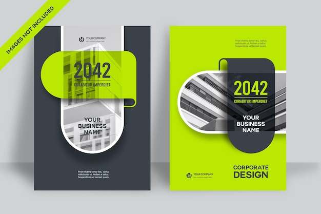 Corporate book cover design template