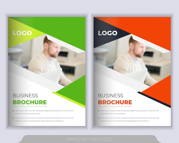 Corporate booklet, annual report and brochure cover design template