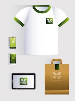 Corporate branding identity on white