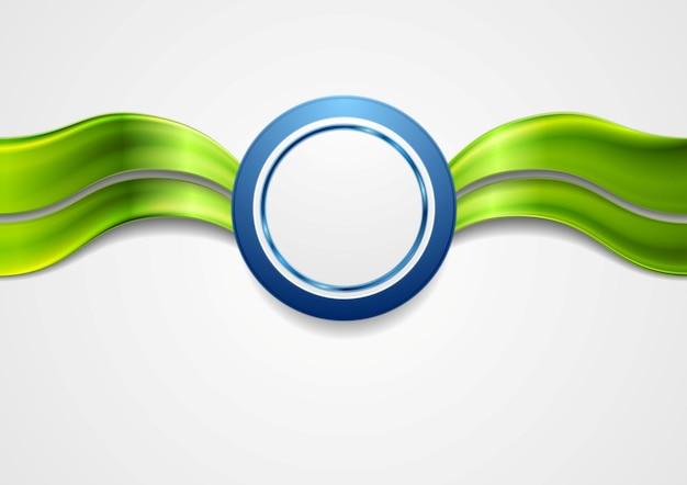Корпоративный яркий абстрактный фон. волны и круг. векторный арт-дизайн