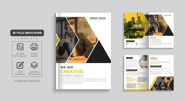 Корпоративная брошюра 4-страничный профиль компании и дизайн многостраничной бизнес-брошюры премиум векторы