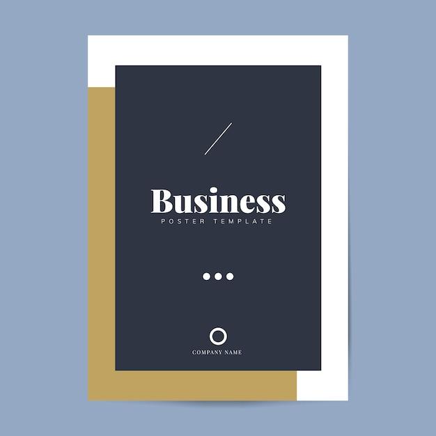企業パンフレットとポスターのテンプレート