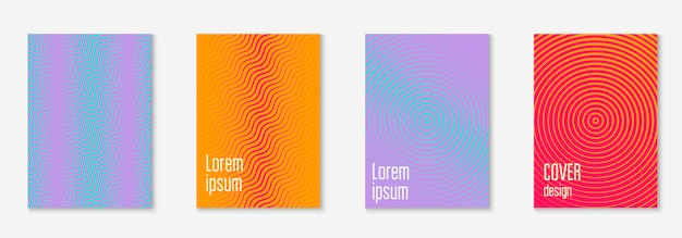 Corporate brochure cover page with minimalist geometric element.