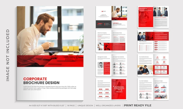 기업 브로셔 디자인 템플릿, 회사 프로필 브로셔 템플릿