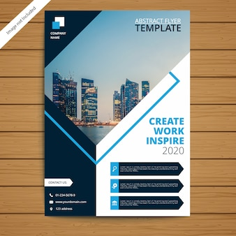 Corporate brochure flyer template