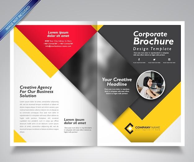Corporate brochure template design-book cover mockup