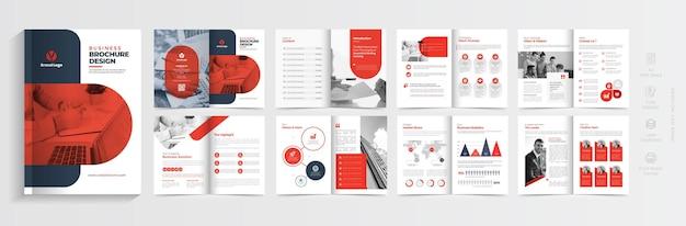 Корпоративный дизайн шаблона брошюры креативный бизнес-макет шаблона брошюры