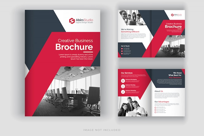 기업 브로셔 템플릿 또는 회사 프로필
