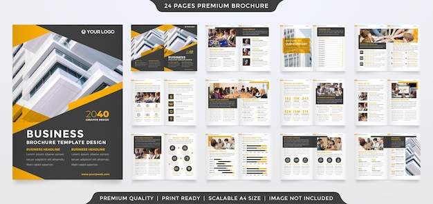 Corporate brochure template with minimalist and premium style