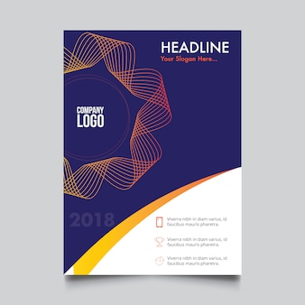 Corporate brochure with circular ribbon design