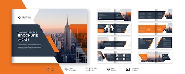 Дизайн брошюры агентства корпоративного бизнеса премиум векторы
