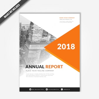 Corporate business annual report 2018 cover template