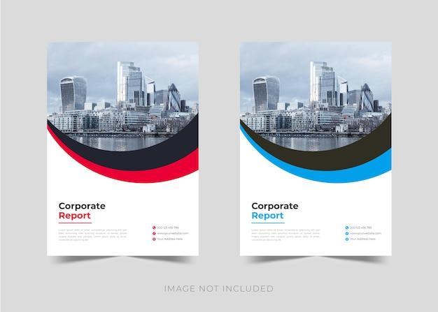 Дизайн брошюры годового отчета корпоративного бизнеса и шаблон оформления обложки книги