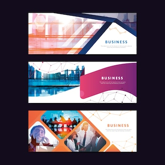 Corporate business banner template set