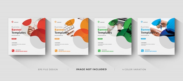 Corporate business banner template social media