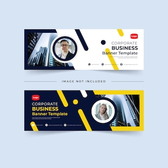 Corporate business banners concept template bundle