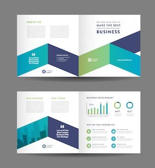 Корпоративный бизнес складной дизайн брошюры и шаблон дизайна рекламного флаера компании