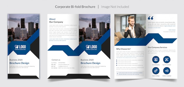 Corporate business bi-fold brochure