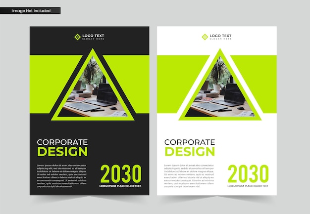 Corporate business book cover design and annual report and brochure template