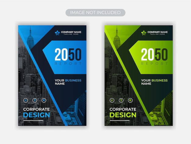 企業のビジネス本の表紙のデザイン テンプレート