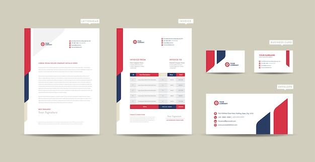 Фирменный стиль для корпоративного бизнеса, дизайн канцелярских принадлежностей или дизайн документов для стартапов компании