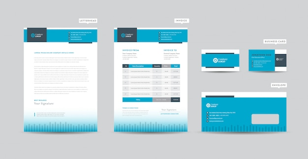 Corporate business branding identity  | stationery design | letterhead | business card | invoice | envelope | startup design
