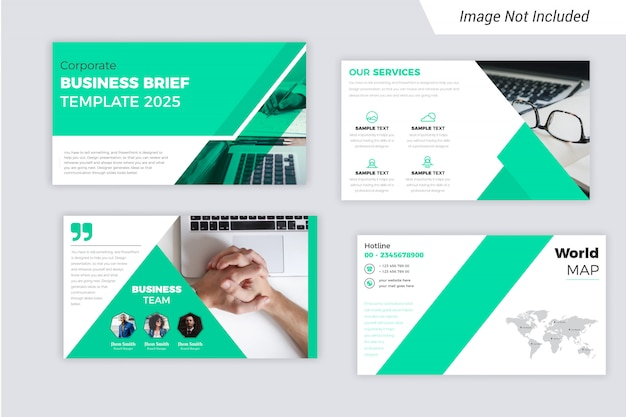 The corporate business brief presentation slides design