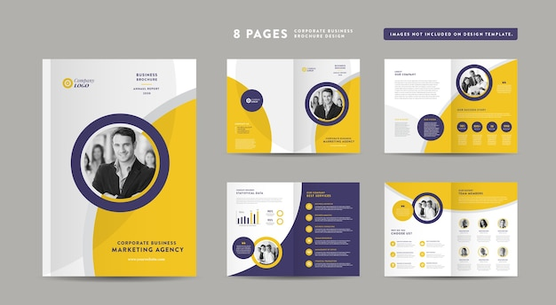 Corporate business brochure, annual report and company profile  booklet and catalog design template