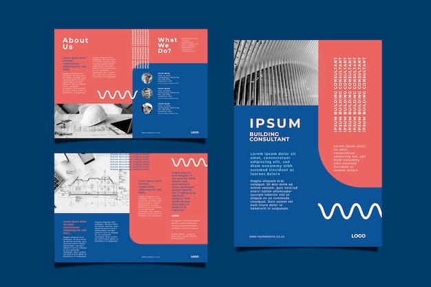 Corporate business brochure concept