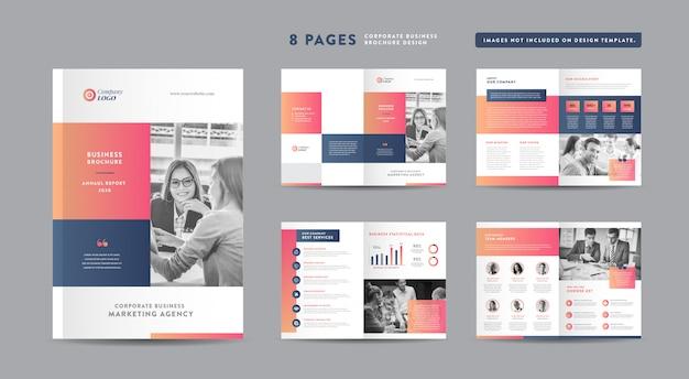 기업 비즈니스 브로셔 디자인 | 연례 보고서 및 회사 프로필 | 소책자 및 카탈로그 디자인 템플릿