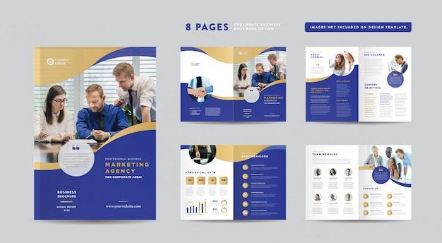 企業パンフレットのデザイン|アニュアルレポートと会社概要|小冊子とカタログのデザインテンプレート