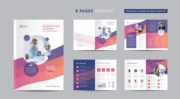 Corporate business brochure design   annual report and company profile   booklet and catalog design template