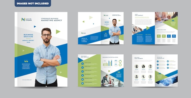 Corporate business brochure design or annual report and company profile or booklet catalog design