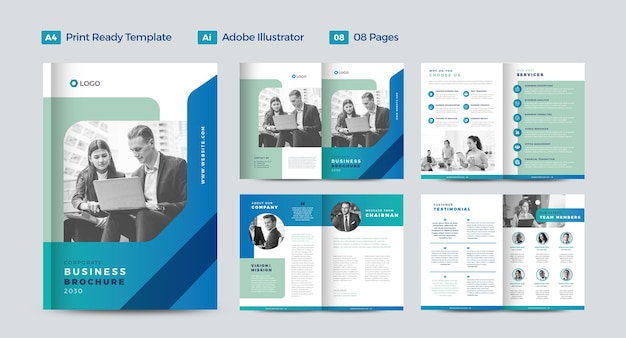Corporate business brochure design or annual report and company profile design or booklet and catalog design