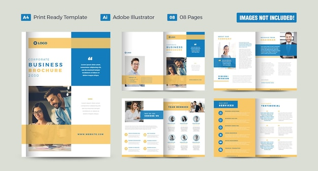 Corporate business brochure design or annual report and company profile design or catalog and booklet design