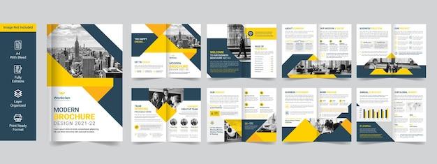 企業のビジネスパンフレットまたは会社概要プレミアムテンプレート