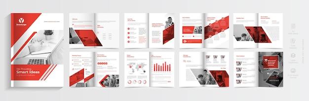 Брошюра о корпоративном бизнесе или дизайн шаблона профиля компании